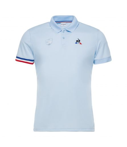 RACING 92 Polo Presentation SS blue 17-18