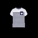 T-Shirt MC Jersey Marinière Haut Blanc
