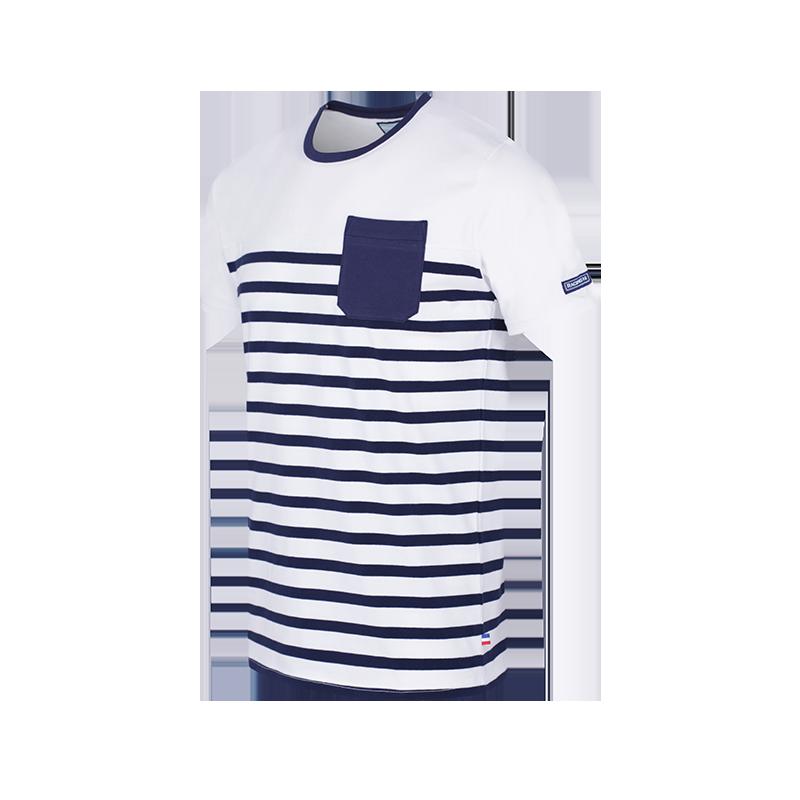 14043821401f T-shirt MC marinière - Racing 92 - Acheter un t-shirt marinière