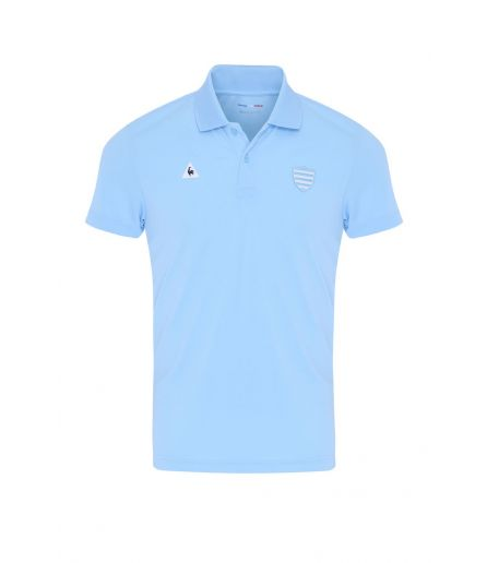 RACING 92 Tenue Presentation Polo MC Poly Blue