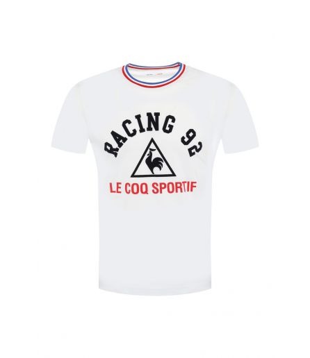 RACING 92 Tenue Presentation T-Shirt MC Logo Blanc