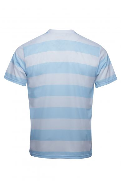 New T-Shirt Subli Rayé Ciel et Blanc..