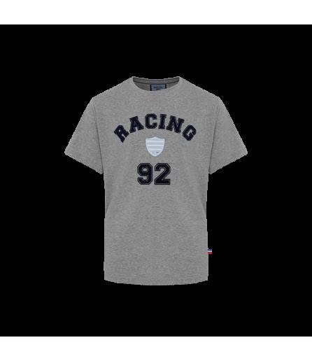 T-Shirt Jersey Floquage Eponge Gris
