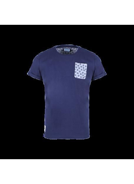 T-Shirt MC Poche AllOver Marine