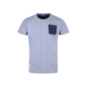T-Shirt MC Poche AllOver Gris