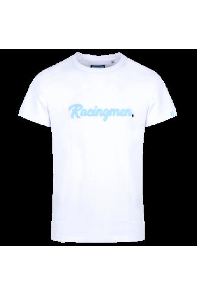 T-Shirt bouclette Blanc Racingmen