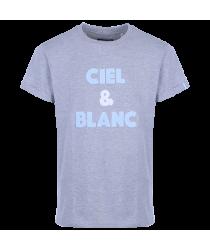 T-Shirt bouclette Gris Ciel et Blanc