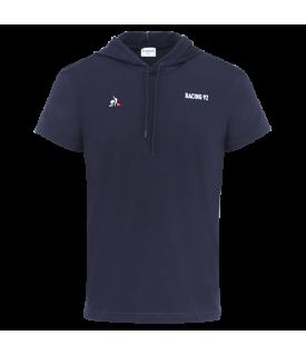 T-Shirt manches courtes à capuche Homme Bleu Marine 18-19 Racing 92 x Le Coq Sportif