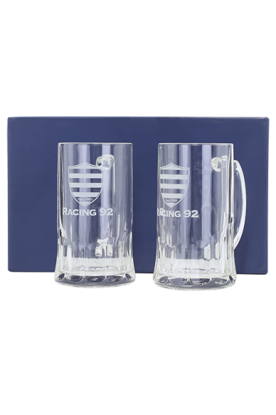 Lot de 2 Chopes de Bière Racing 92