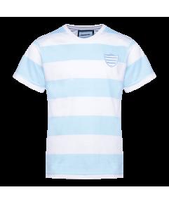 T-Shirt MC ciel et blanc Kid Racing 92