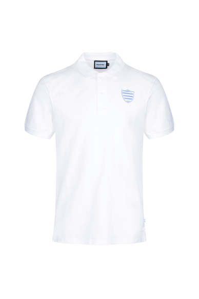 Polo MC Homme Percy Blanc Racing 92