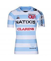 Maillot pro ciel et blanc homme 19-20 Racing 92 x Le Coq Sportif