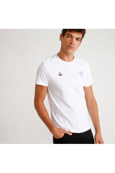 Tee shirt blanc homme 19-20 Racing 92 x Le Coq Sportif