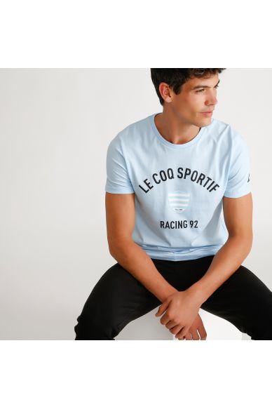 Tee shirt bleu ciel homme 19-20 Racing 92 x Le Coq Sportif