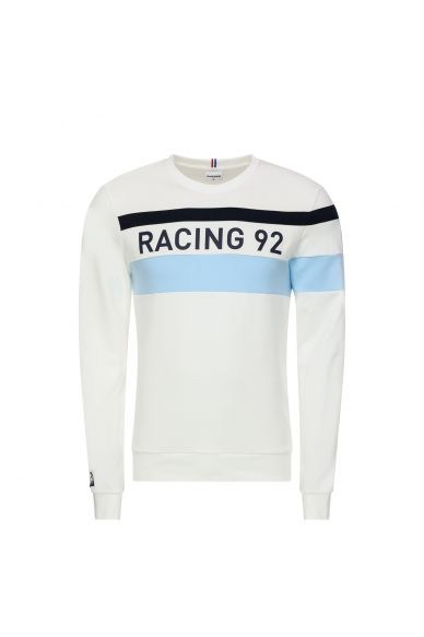 Sweat blanc homme 19-20 Racing 92 x Le Coq Sportif