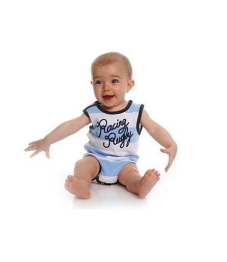 Body du Manoir ss manche sky Blue / White c/o P11