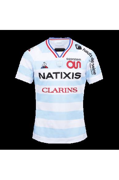 Maillot Pro 20-21 homme ciel et blanc Racing 92 x Le Coq Sportif