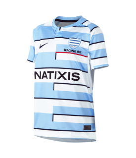 Maillot enfant réplica Ciel et blanc Racing 92 x Nike21-22