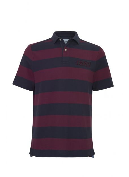Polo MC Homme Marine/Bourgogne Racing 92