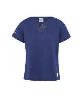 T-Shirt MC Jersey Flammé Marine