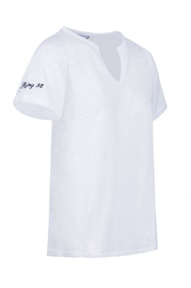 T-Shirt MC Jersey Flammé Blanc
