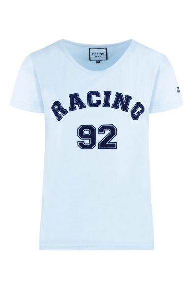 T-Shirt Femme MC Supporter Jersey Ciel
