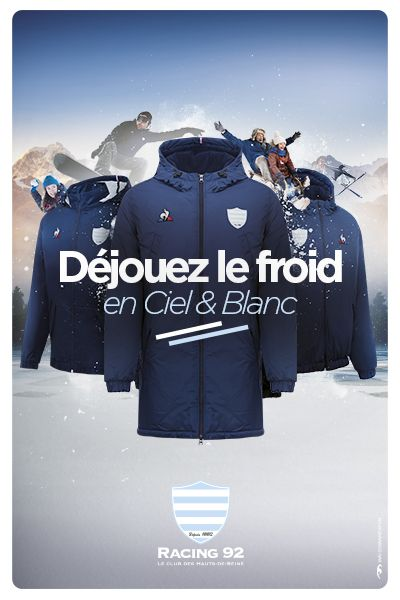 Collection hiver Racing 92 rugby