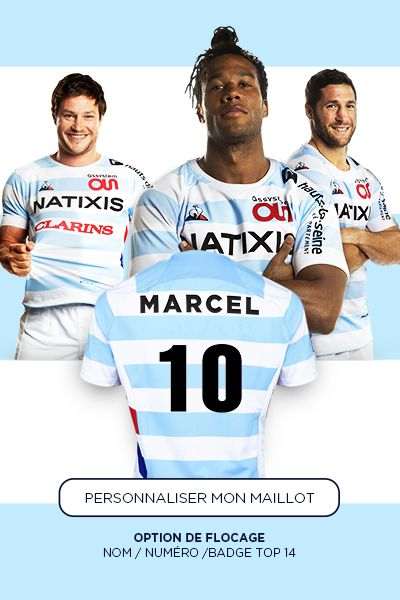 Flocage Maillots Racing 92